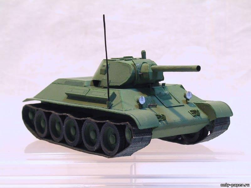Танка т 34 модель танка из бумаги
